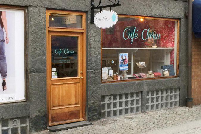 Fönsterdekor till Claras Cafe