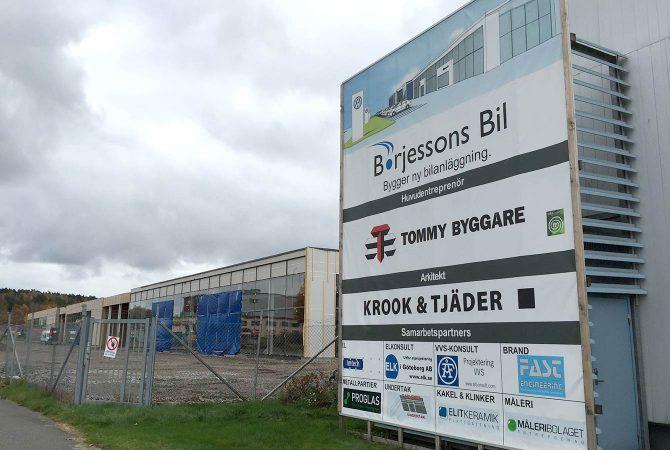 Byggvepa till Börjessons Bil/Tommy Byggare