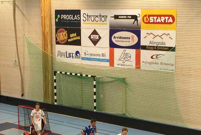 Sponsringsbanderoller till IBK Alingsås
