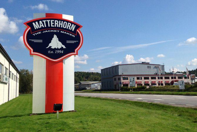 Matterhorn stolpskylt