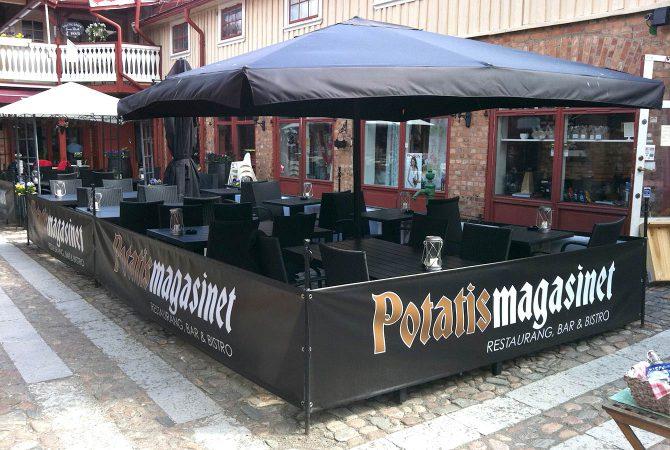Staketbanderoll till Potatis Magasinet
