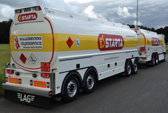 Lastbilsdekor Sollebrunns Oljeservice