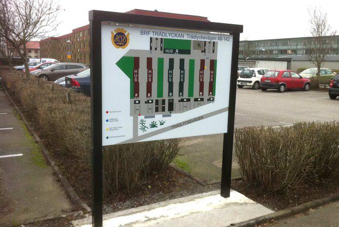 Översiktskarta till Brf. Trädlyckan